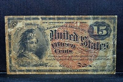 15C Fractional Currency ✪ Vf Very Fine ✪ 4Th Issue Cent L@@k Now A01 ◢Trusted◣