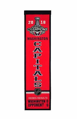 2018 Washington Capitals Stanley Cup Champions Heritage Banner Free Shipping