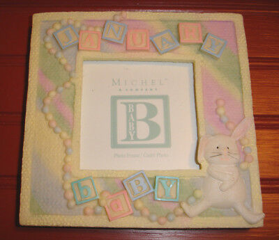 """Michel & Company January Baby Picture Photo Frame 4"""" x 4"""""""