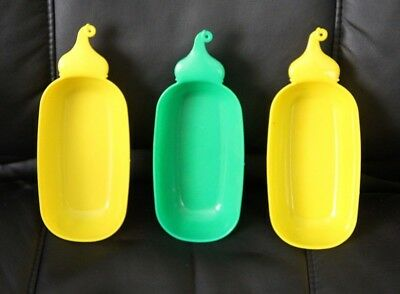 3 Vintage  ESTATE SALE Plastic DAIRY QUEEN  Ice Cream Banana Boat Dishes Bowls
