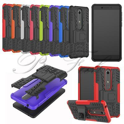 For Nokia 6.1 2018 TA-1068 / 1 2 3 New Black Stand Shock Proof Phone Case Cover