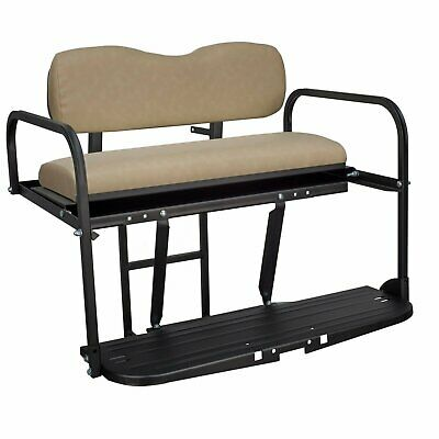 Gusto™ Club Car Precedent Golf Cart Flip Folding Rear Back Seat Kit - Buff