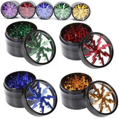 SHARK 4 Parts Aluminium Alloy Crusher Hand Smoking Grinders Tobacco Herb Grinder