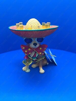 """Aye Chihuahua """"Party Animal"""" Resin Figurine By Westland Giftware"""