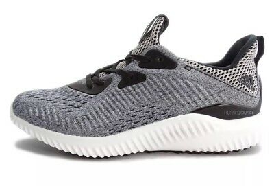 baf9a5a6ee4d3 Adidas Alphabounce EM J Black Grey Youth Size 6.5Y Running Shoes Sneaker  BW0579