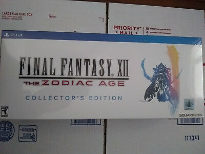 Final Fantasy XII Zodiac Age Collector's Edition PS4 SquareEnix EXCLUSIVE NEW