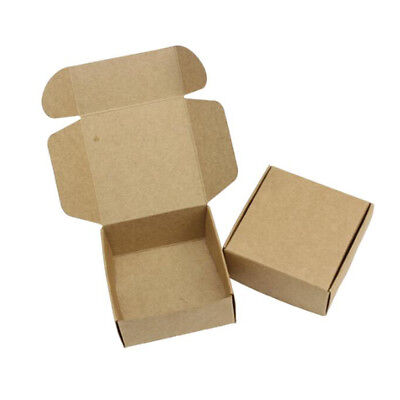 10pcs Folding Kraft Paper Box Handmade Candle Soap Candy Gift Packaging Box