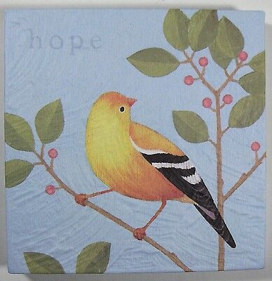Yellow Finch Art -- Lovely, Calming Message of Hope!