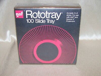 GAF Rototray 100 Slide Tray For 2 x 2 Slide Use With GAF/Sawyer's Projectors NEW