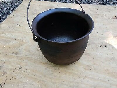 3 Foot Gypsy Style Deep Cauldron Kettle Pot Heavy Cast Iron Fireplace Antique