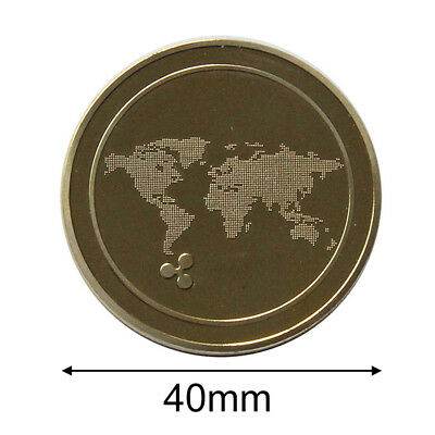 XRP Ripple Coins Mini Gifts 4*4*0.25cm Collectors Ripple Badge