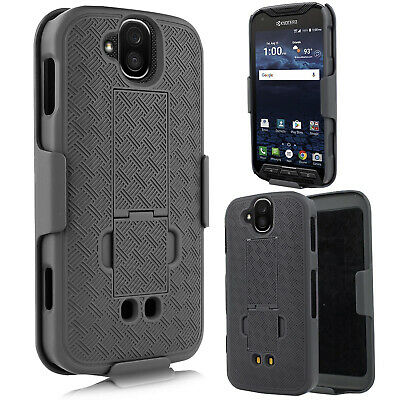 For Kyocera Dura force Pro Slim Shell Holster Combo Case + Belt Clip+ Kickstand