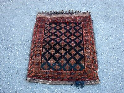 "2'5"" X 3'5"" Persian? Baluch Grain Bag Bag Face"