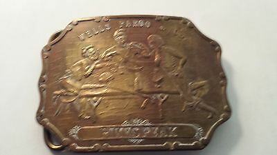 Vintage Wells Fargo Pikes Peak Buckle, Tiffany On Back, Please Look At Pictures