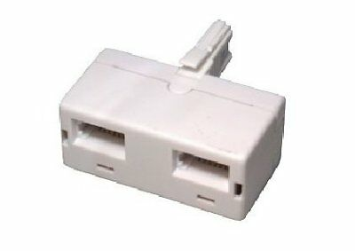rhinocables® BT double telephone Phone socket 2 way Adapter Splitter