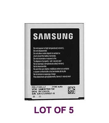 5 Samsung EB-L1G6LLZ OEM Battery Lot i535 R530 SPH-L710 T999 Galaxy S III New
