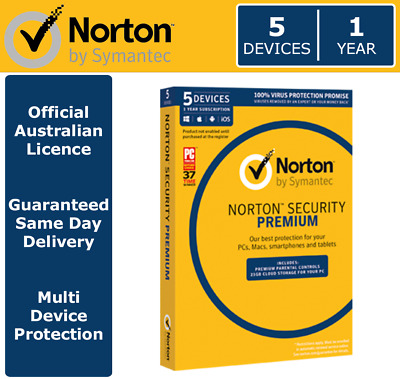 Norton Security Premium 2018 - 5 Devices | 1 Year > OFFICIAL AUS LICENCE