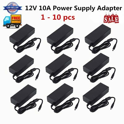 DC 12V 10A Converter Adapter 120W Power Supply for 5050 3528 LED Strip Module MA