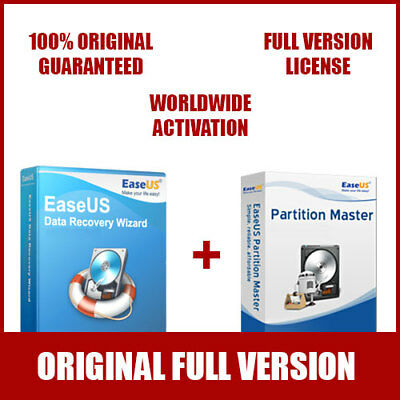 EaseUS Hottest Bundle - Data Recovery Wizard + Partition Master