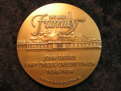 1 XL medal John Deere Employees Credit Union Waterloo Iowa 50th Anniversary 1984