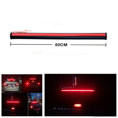1X 12V 6W 60cm Red Car Rear Window Tail Trunk Light Brake Signal LED Light Strip