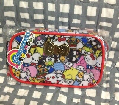 Hello Sanrio Kitty Make-Up Bag Charm  Zip Pouch iPhone Case Japan Loot Crate NEW