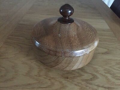 Beautiful turned Wood bowl with lid