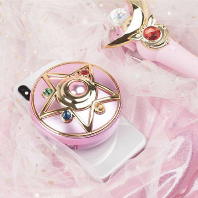Sailor Moon Crystal Star Compact Power Bank Wireless Charger Cosmetic Mirror New