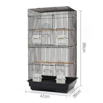 88CM Bird Parrot Cage Pets Carrier Canary Budgie Finch Perch Cockatoo Parakeet