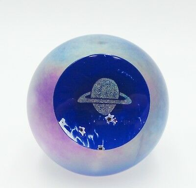 "Vintage Glass Eye Studio Paperweight Celestial Series "" Saturn """