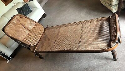 Gebrüder Thonet Bentwood Daybed Chaise Longue Lounge Chair Wicker Antique C1885