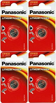Panasonic CR1632 1632 3V Lithium Battery Pack of 4 Battery