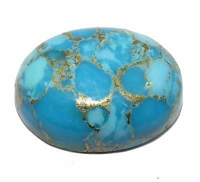 Top & Beautiful Certified Oval Shape 23.90 Ct Natural Copper Turquoise Gemstone.