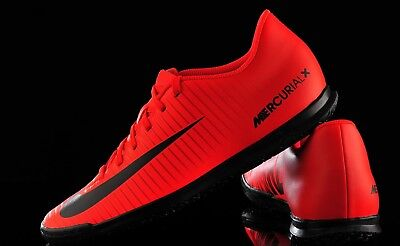 6228747645eb Nike Men's SZ 8.5 MercurialX Vortex III IC Shoes University Red/Black  831970 616