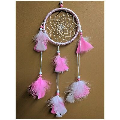 Pink White Dream catcher Hand Made Ornament Decorations|Ships FREE In US