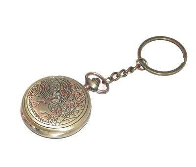 New Pocket Watch Clock Keyring Keychain Key Fob