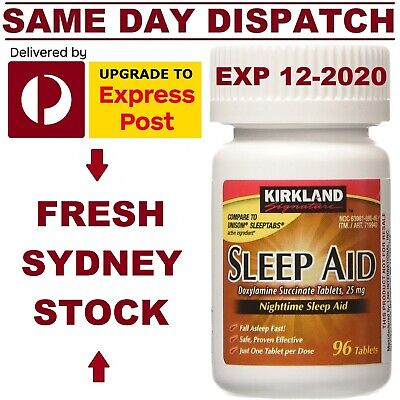 SLEEP AID Doxylamine Succinate 25mg Kirkland DEEP SLEEP - AUS STOCK FAST SHIP!