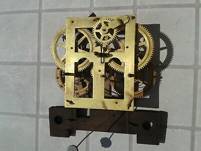 clock movement Waterbury  OG WEIGHT 1880s part victorian
