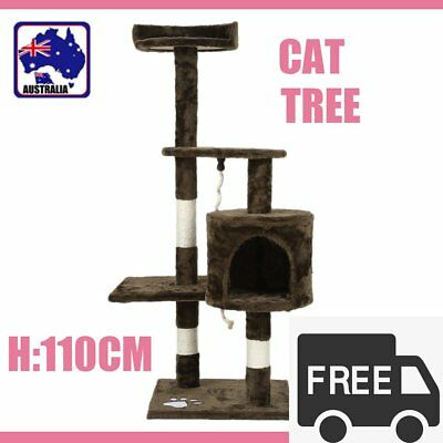 110Cm Cat Tree Kitten Scratching Post Scratcher Pole Toys Pet Gym House Bed Ro