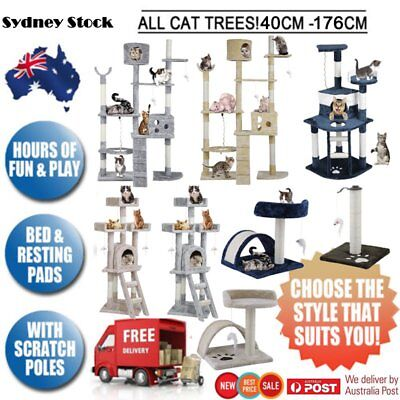 Cat Tree Scratching Post Scratcher Pole Toy House Furniture Multilevel Large RL