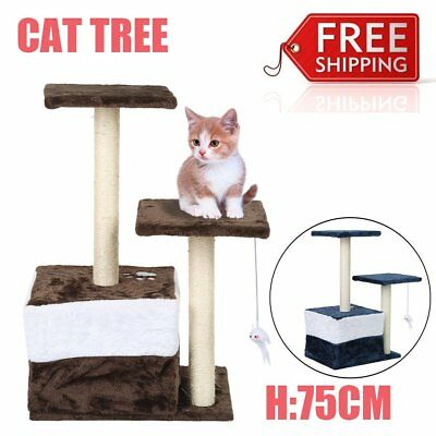 70Cm Cat Tree Kitten Scratching Post Scratcher Pole Toys Pet Gym House Bed R6