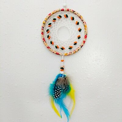 Summer Vibe mini Dream Catcher Hand Made Ornament decoration | Ships FREE In US