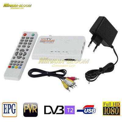 1080P HDMI DVB-T TV Box AV Tuner Receiver Receiver With remote control cable
