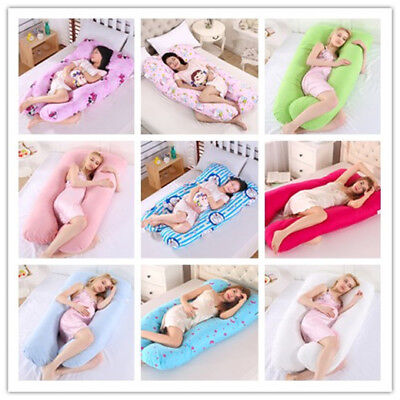 New Comfortable Soft U Pillow Full Body Maternity Pregnancy Support+Free Case