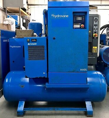 Hydrovane HV05 Receiver Mounted Rotary Vane Compressor, With Filters & Dryer!