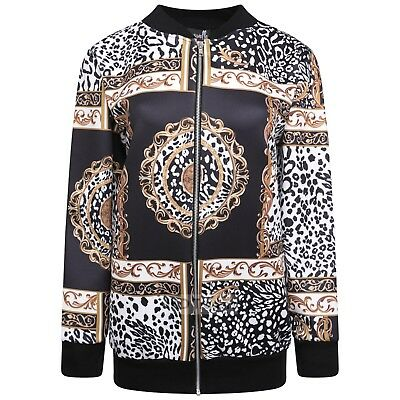 610594b4a LADIES WOMENS FLOWER Embroidered Bomber Jacket Plus Size 14 16 18 20 ...