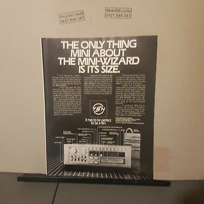 Vintage single page magazine ad vintage cassette/stereo/tapes mini-wizard