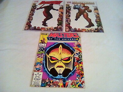 THE INVINCIBLE IRON MAN 16 70th Frame Variant + daredevil #500 and MOTU!