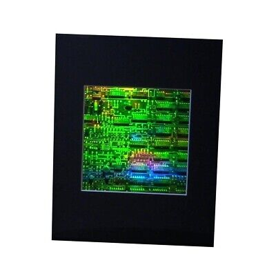 3D Circuit Board Hologram Picture MATTED, Collectible Embossed Type Film