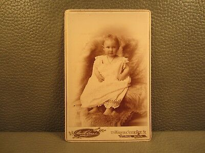Victorian Antique Cabinet Card Photo of a Baby Girl, Infant, Child